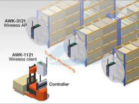 Application of compact industrial grade wireless client in AGV system