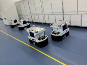 Natural navigation AGV technology robot