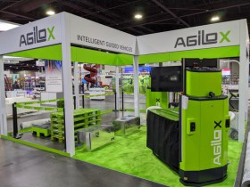 AGILOX exhibits intelligent guidance trolley IGV at MOTEX 2020