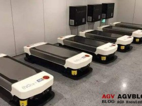 Efficient material handling by AGV in manufacturing system