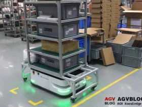 AGV robot automatic feeding positioning system