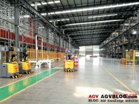 the concrete realization of AGVS in the paint industry