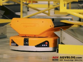 How does Amazon's warehousing robot do the automatic sorting and transportation of goods?